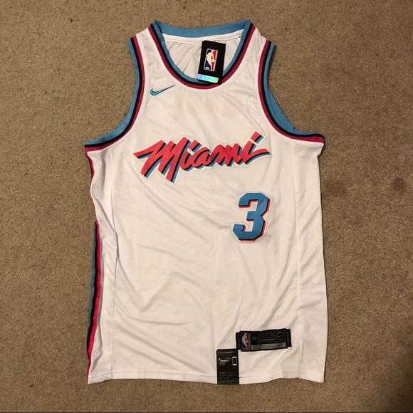 half off e7427 2cef3 Miami Heat Vice Jersey. Dwayne Wade #3 NWT